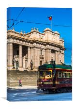 Old City Centre tram outside Parliament House, Canvas Print