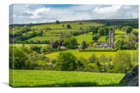 St Pancras Church, Widecombe in the Moor, Canvas Print