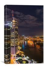 Brisbane at night, Canvas Print