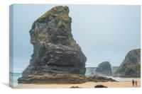 Awesome Bedruthan Steps, Canvas Print