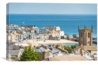 St Ives views, Canvas Print