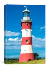 Smeatons Tower Lighthouse, Canvas Print