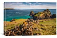 Kynance Cove Scenic views, Canvas Print