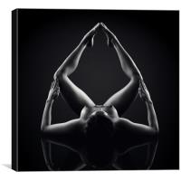 Nude Bodyscape reflections 8, Canvas Print