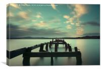 Fahan Pier at Sunrise, Canvas Print