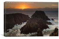 Sunset at Malin Head Seastacks , Canvas Print