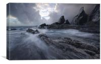 Westcombe Beach, Canvas Print