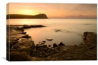 Calm Waters at Kimmeridge Bay, Canvas Print
