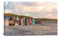 Beach Houses on West Wittering Beach, Canvas Print