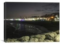 La Carihuela, Torremolinos by night, Canvas Print