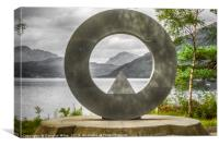 The War Memorial at Rowardennan, Canvas Print