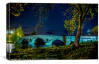 Kenmore Bridge by Night, Canvas Print