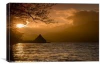 The Crannog, Loch Tay, Canvas Print