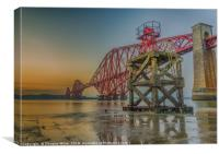 Hawes Pier and the Forth Bridge, Canvas Print