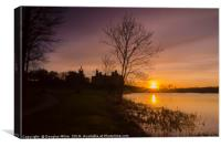 Sunset over Linlithgow Loch, Canvas Print
