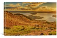 An Autumn Evening on Conic Hill, Canvas Print