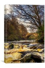 The Nasmyth Bridge and River Almond, Canvas Print