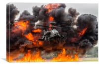 Boeing AH-64 Apache Longbow Attack Helicopter, Canvas Print