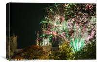 Cathederal under lights, Canvas Print
