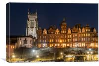 Cromer by night, Canvas Print