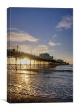 Worthing Pier, early morning, Canvas Print