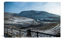 Bamford hills in winter time, Canvas Print