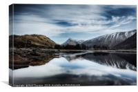 Wispy clouds over Loch Etive., Canvas Print