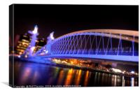 Millennium Bridge, Salford Quays No.1, Canvas Print