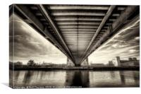 Millennium Bridge, Salford Quays No.3, Canvas Print