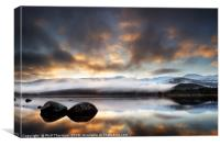 Sunrise over Loch Morlich, 3x2 ratio., Canvas Print