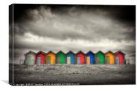 Blyth Beach Huts No. 3, Canvas Print