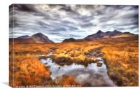 The Cuillin Range No.3, Canvas Print