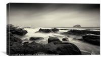 Bass Rock on a stormy day., Canvas Print