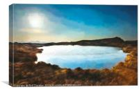 Sunset over Loch na Clarlaich to the Isle of Skye., Canvas Print