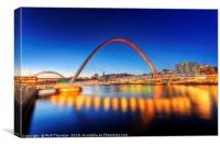 Gateshead Millennium Bridge No.3, Canvas Print