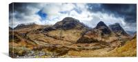 The Three Sisters of Glencoe, Canvas Print