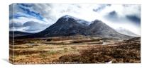 Storm clouds over Stob Dearg, Canvas Print