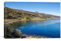 Blue skies over Dunn Caan, on the Isle of Raasay., Canvas Print