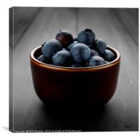 Still life of blueberries in a bowl, Canvas Print