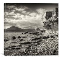 The Black Cuillins from Elgol, Canvas Print