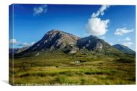 Blue skies over over Stob Dearg, Canvas Print