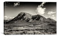 Dramatic skies over over Stob Dearg, Canvas Print