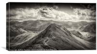 View of Whiteless Pike and beyond., Canvas Print