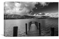 Jetty (noir), Canvas Print