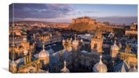 Edinburgh Castle Aerial, Canvas Print