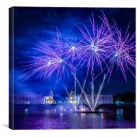 Fireworks on the Thames at Greenwich, Canvas Print