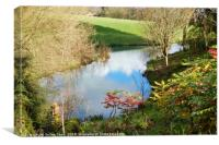 Coombe Hill Canal and Meadows, Canvas Print