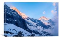 Monch and Jungfrau, Canvas Print