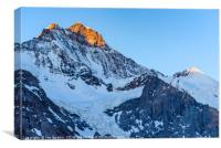 Jungfrau and Silberhorn, Canvas Print