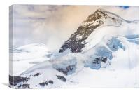 Rottalhorn from the Jungfraujoch, Canvas Print